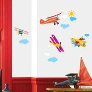 Home Decor Mural Art Wall Paper Stickers - Airplane SS58223