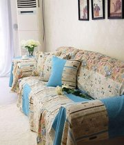 Vintage Style Branca Throw Cotton&Jute Couch/Loveseat Cover SC-26,  Two